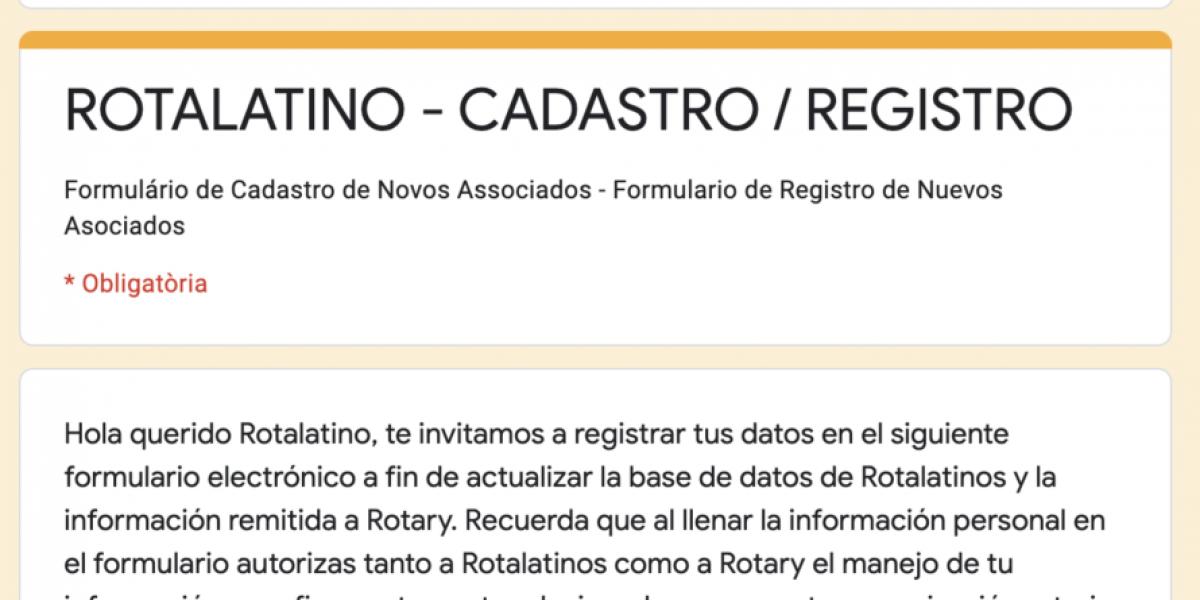 Formulario Registro Rotalatinoa